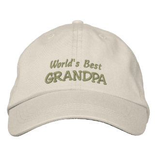 World's Best GRANDPA-Father's Day OR Birthday Embroidered Baseball Caps