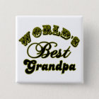 World's Best Grandpa Gifts and Apparel 15 Cm Square Badge