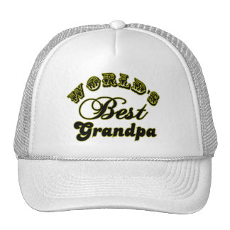 World's Best Grandpa Gifts and Apparel Hat