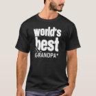 World's Best Grandpa Grunge Letters T-Shirt