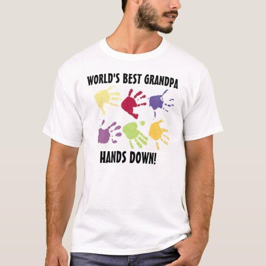World's Best Grandpa hands Down T-shirt