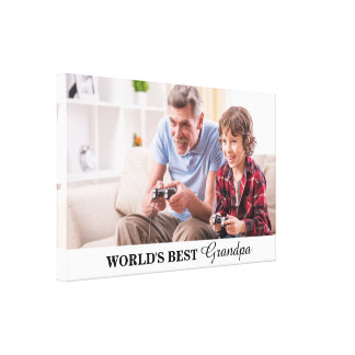 World's Best Grandpa Personalized Photo Canvas