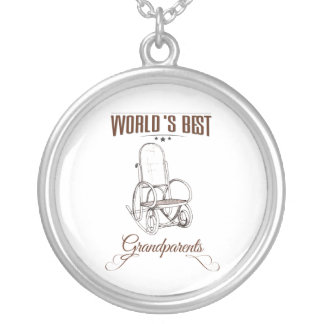 World's best grandpa silver plated necklace