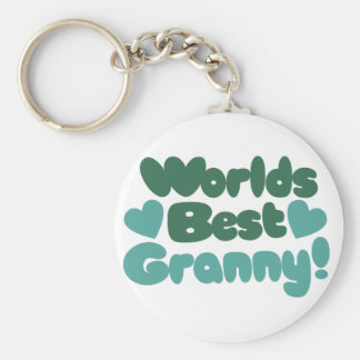 Worlds Best Granny Basic Round Button Key Ring