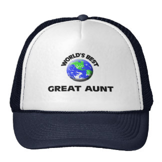 World's Best Great Aunt Cap