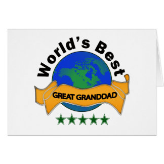 World's Best Great Granddad Card