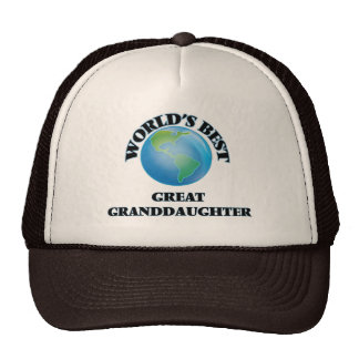 World's Best Great Granddaughter Hat