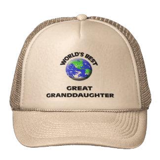 World's Best Great Granddaughter Hats