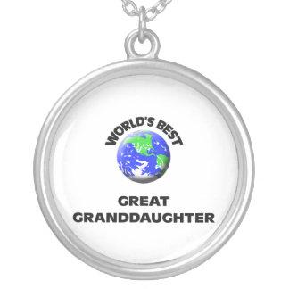 World's Best Great Granddaughter Pendant