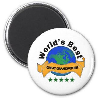 World's Best Great Grandfather 6 Cm Round Magnet