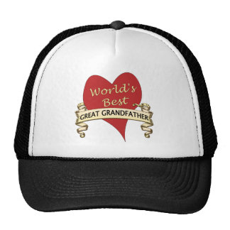 World's Best Great Grandfather Trucker Hats