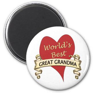 World's Best Great Grandma 6 Cm Round Magnet