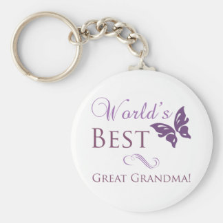 World's Best Great Grandma Basic Round Button Key Ring