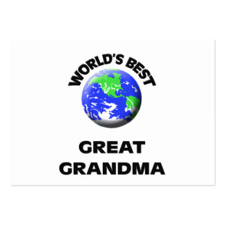 World's Best Great Grandma Pack Of Chubby Business Cards