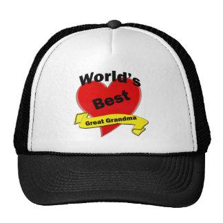 World's Best Great Grandma Hats