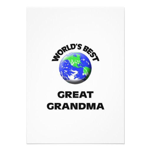 World's Best Great Grandma Custom Invites
