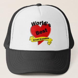 World's Best Great Grandma Trucker Hat