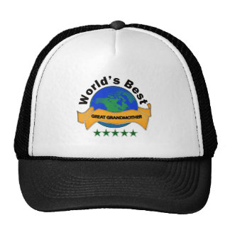 World's Best Great Grandmother Trucker Hats