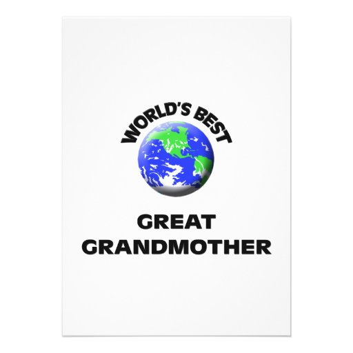 World's Best Great Grandmother Custom Announcement