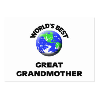 World's Best Great Grandmother Pack Of Chubby Business Cards