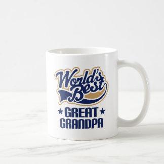 Worlds Best Great Grandpa Basic White Mug