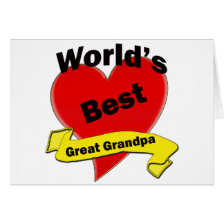 World's Best Great Grandpa Greeting Card