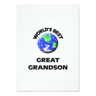 World's Best Great Grandson 5x7 Paper Invitation Card