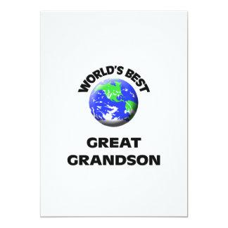 World's Best Great Grandson 13 Cm X 18 Cm Invitation Card