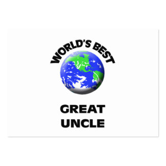 World's Best Great Uncle Business Card Template