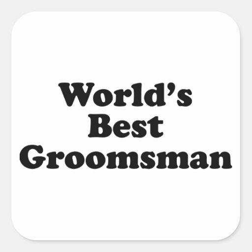 World's Best Groomsman Sticker