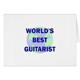 World's Best Guitarist Greeting Cards