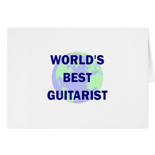World's Best Guitarist Greeting Cards