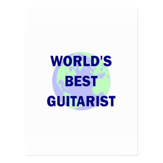 World's Best Guitarist Postcard