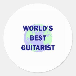 World's Best Guitarist Round Stickers