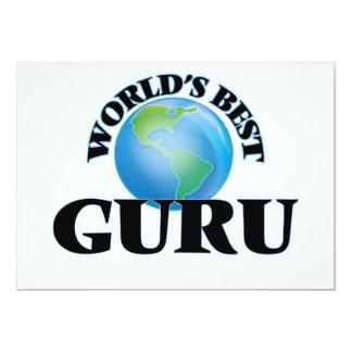 World's Best Guru 13 Cm X 18 Cm Invitation Card