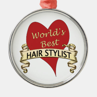 World's Best Hairstylist Christmas Ornament