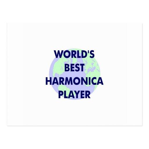 World's Best Harmonica Player Postcard