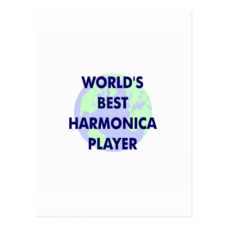 World's Best Harmonica Player Postcard