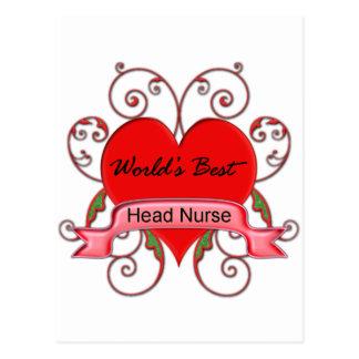World's Best Head Nurse Postcard