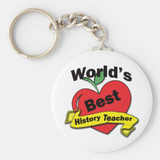 World's Best History Teacher Key Ring