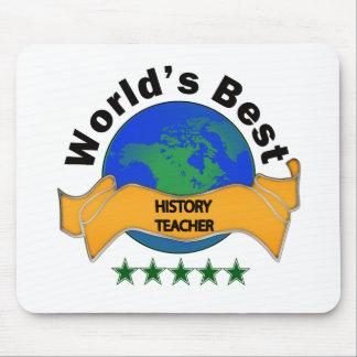 World's Best History Teacher Mousepads