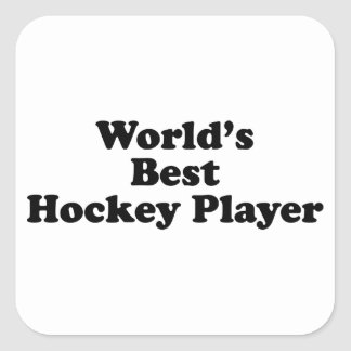 World's Best Hockey Player Square Sticker