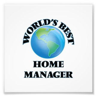 World's Best Home Manager Photo Art