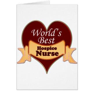 World's Best Hospice Nurse Greeting Card