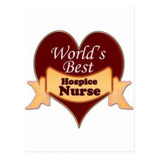 World's Best Hospice Nurse Postcard