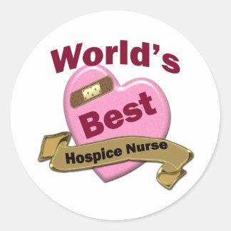 World's Best Hospice Nurse Round Sticker