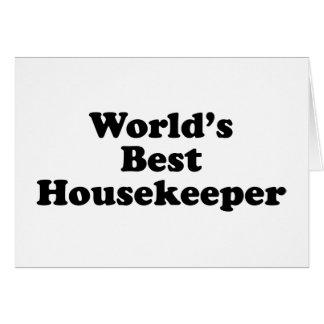 World's Best Housekeeper Greeting Card