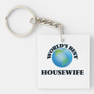 World's Best Housewife Acrylic Keychain