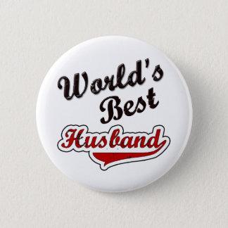 World's Best Husband 6 Cm Round Badge