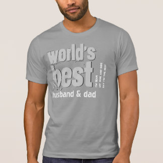World's Best Husband and Dad X18C CONCRETE GRAY Tee Shirt